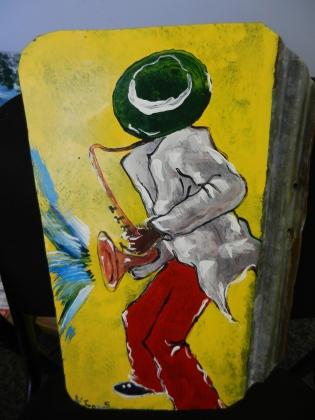 Sax Player, Metal (Leonard Jones)