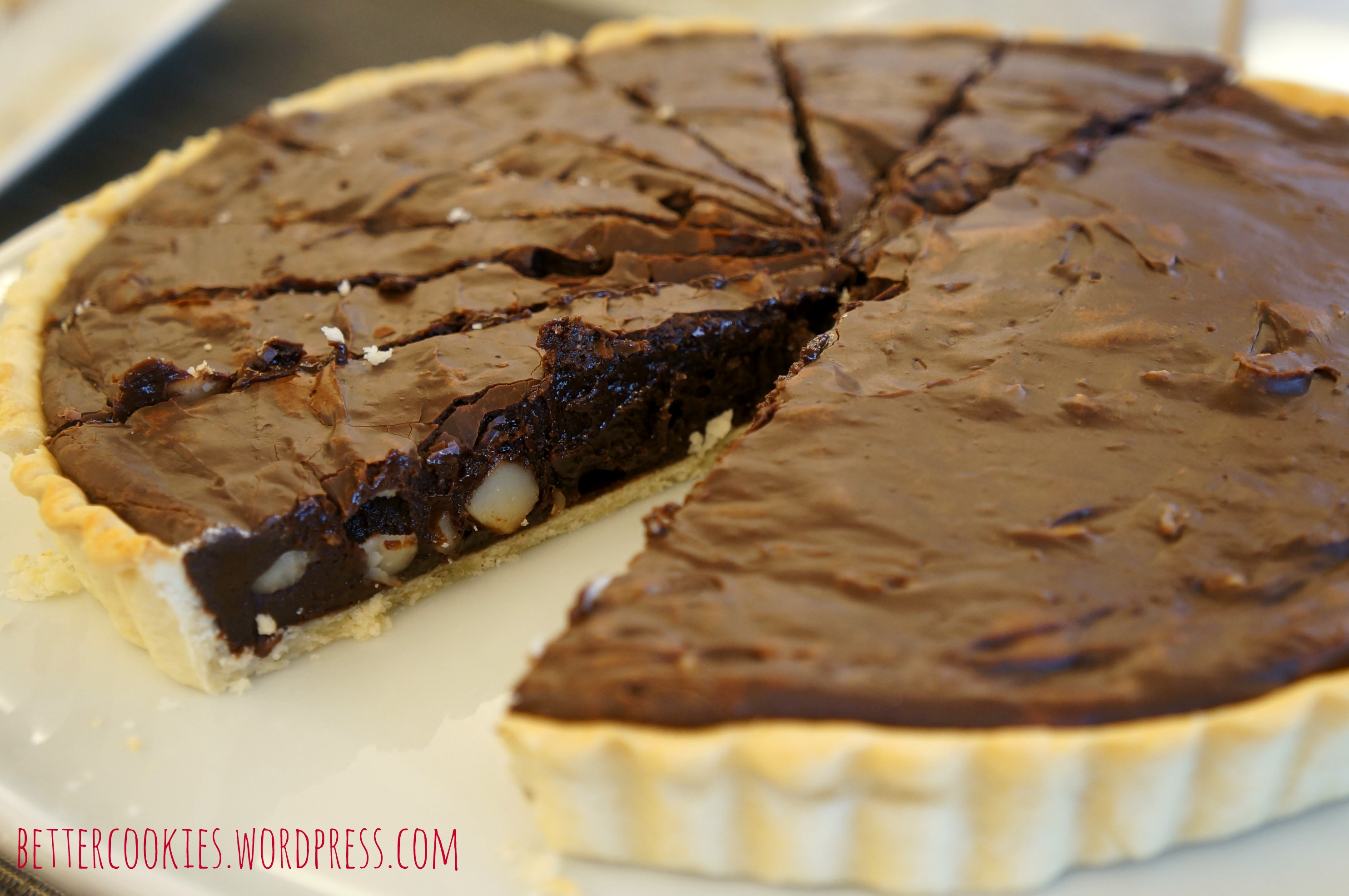Dark Chocolate Truffle Tart with Rum Cream | Goodies & Yum x ...