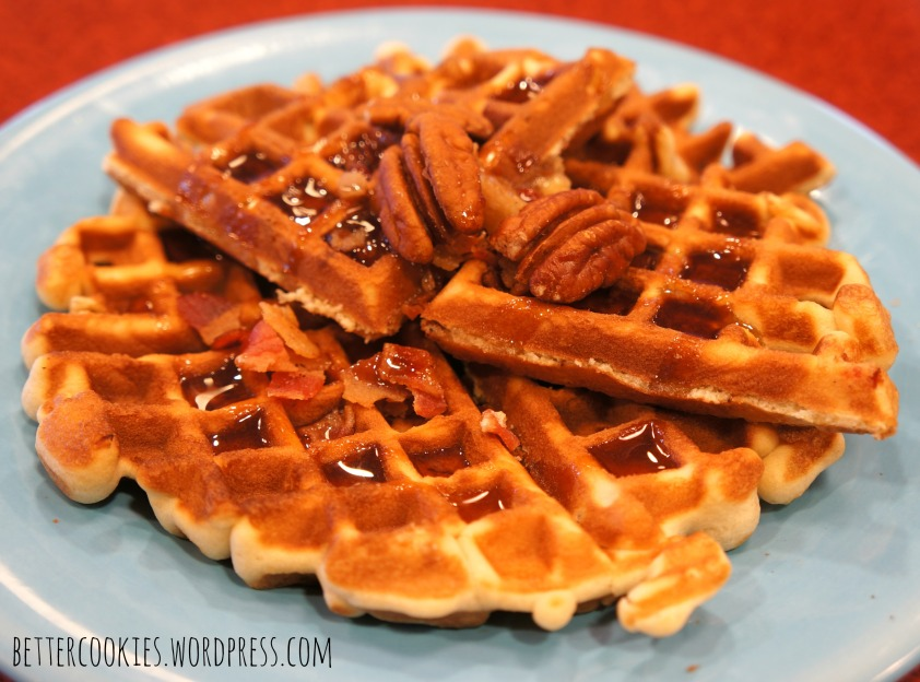 Bacon Pecan Cookie Waffles