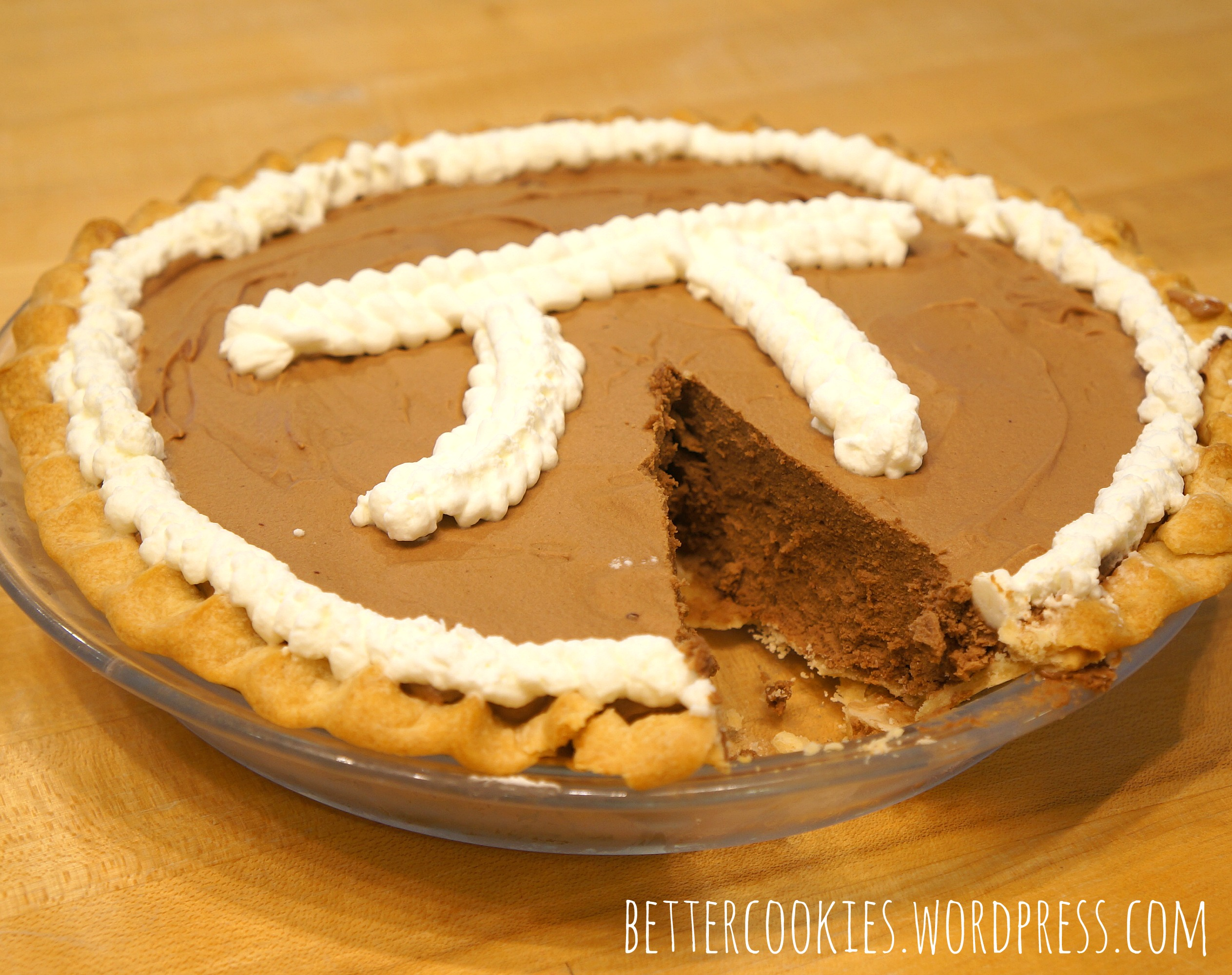 Happy Pi Day! French Silk Chocolate Pie | Goodies & Yum x ...