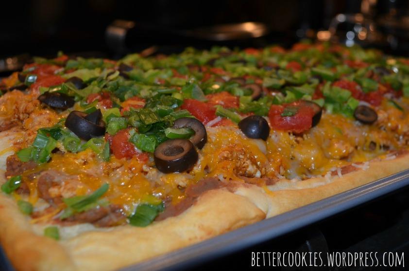 Crescent Taco Pizza