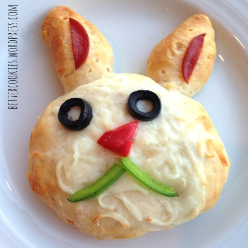 Easter Bunny Pizza Biscuit