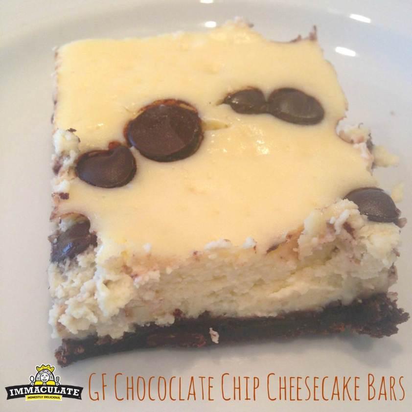 Gluten Free Chocolate Chip Cheesecake Bars