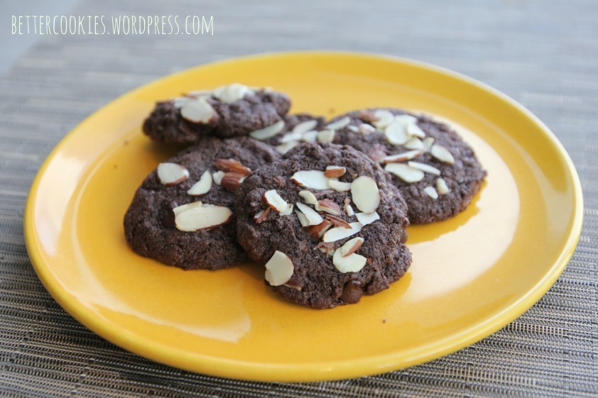GF Double Chocolate Almond Cookies1