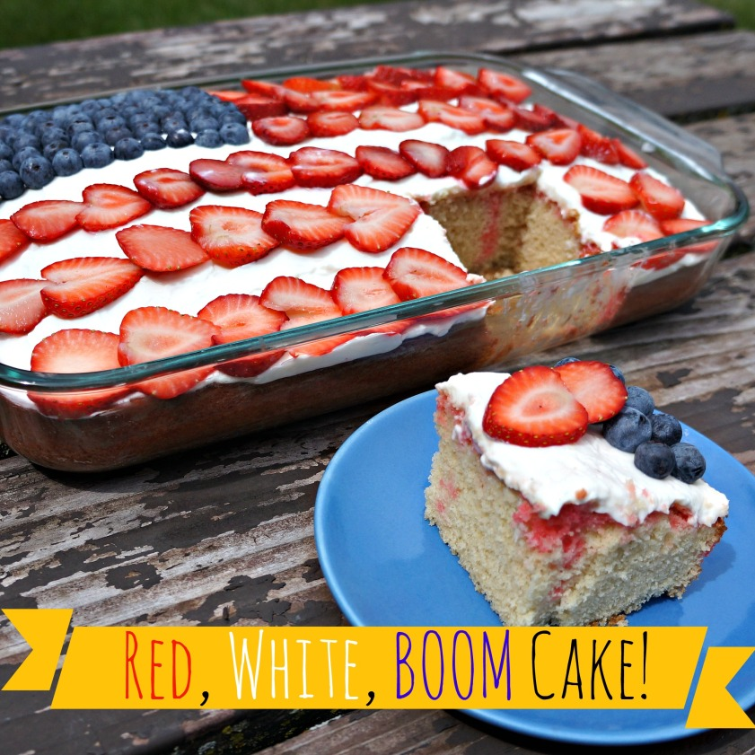 Red, White, BOOM Cake!