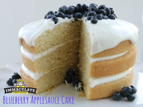 Blueberry Applesauce Cake1