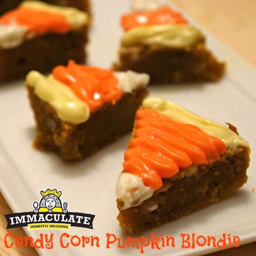 Candy Corn Pumpkin Blondie