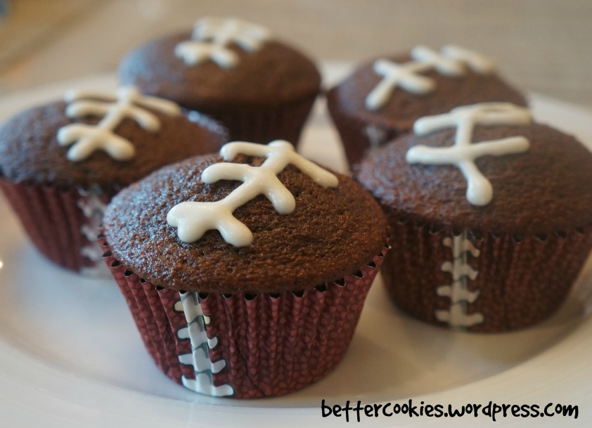 Chocolate Football Cupcakes