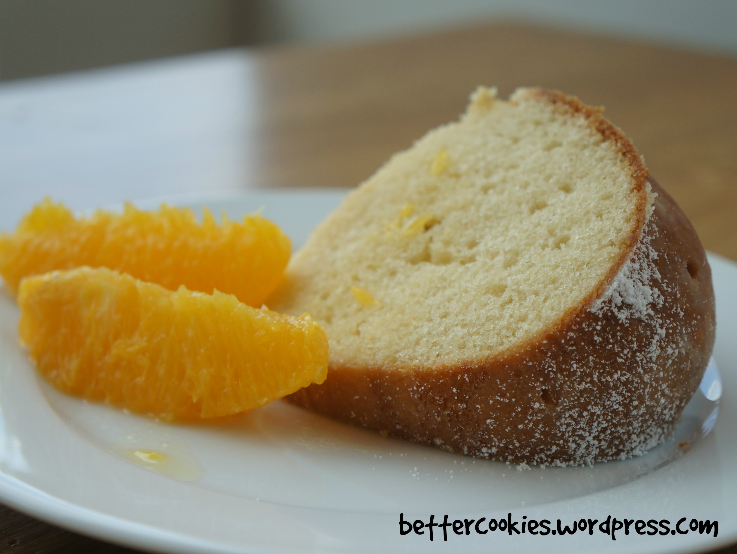 Creamy Pound Cake with Ginger Orange Sauce | Goodies & Yum x ...