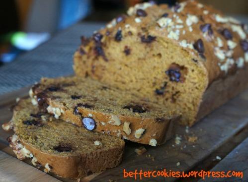 Pumpkin Chocolate Chip Bread