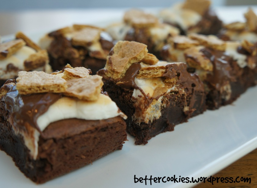 S Mores Fudgy Brownies Goodies Amp Yum X Immaculate Baking